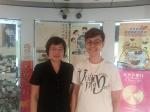 澳門鏡湖醫院中醫科陳玉玲醫生(左)與主持人陳海燕合照