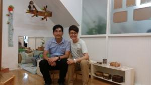 澳門蒙特梭利教育暨研究協會理事長盧傑樺先生(左)