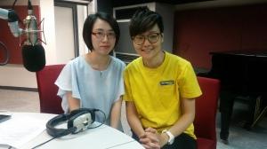 澳門鏡湖醫院陳美恒醫生(左)